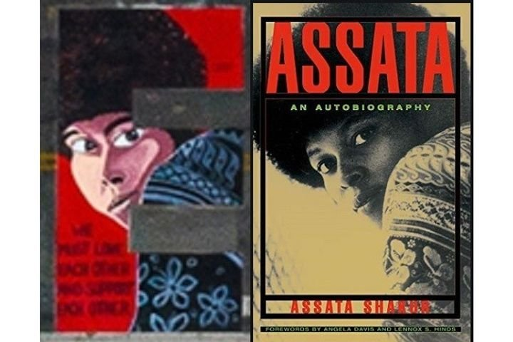 The National Police Association says the image on the mural is based on the cover photo of Joane Chesimard/Assata Shakur's autobiography. (Photo: National Police Association) -