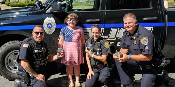Officers with the Bath (NY) Police Department were visited by a six-year-old girl who wanted to...