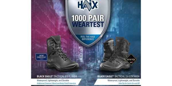 HAIX is Giving Away 1,000 Duty Boots to Qualified Wear-Testers
