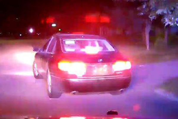 An officer with the Washington (IA) Police Department was dragged by a vehicle for several blocks by a vehicle that had been stopped for not displaying license plates shortly after midnight on Saturday night. - Image courtesy of Washington (IA) Police Department / Facebook.