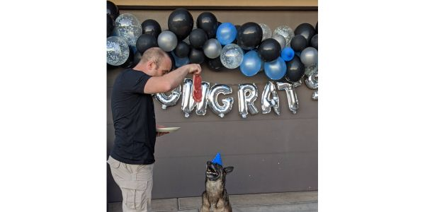K-9 Paige with the Hurricane City (UT) Police Department has bid farewell to two-legged...