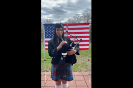 "NJ Teen Records Bagpipe ""Thank You"" to Police, Other COVID-19 Responders"