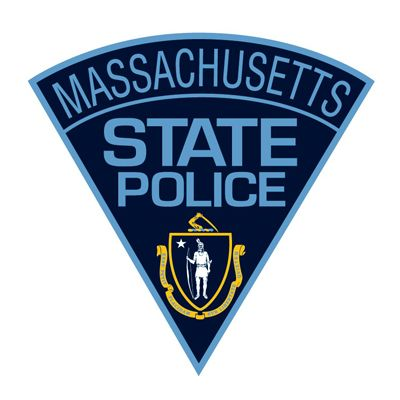 A K-9 with the Massachusetts State Police was able to locate three teenagers who had attempted to elude police by hiding in a swamp after they bailed out of the stolen car they were in during a vehicle pursuit with police. - Image courtesy of Massachusetts State Police / Facebook.