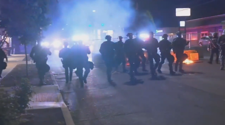 Portland police have been forced to cope with more than 80 nights of riots and protests. (Photo: Fox 12 Screen Shot) -