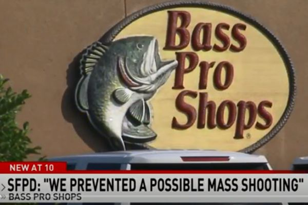 The chief of police for the Spanish Fort (AL) Police Department told reporters that his officers were able to take into custody a man who had allegedly been planning a mass shooting and had opened fire inside a Bass Pro Shops retail store. - Screen grab of news report.