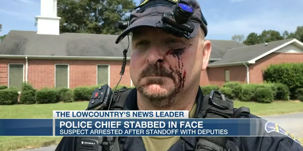 Bonneau, SC, Police Chief Franco Fuda was stabbed at his home Monday. (Photo: WCSC Screen Shot)