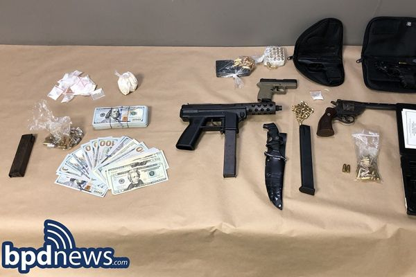 Four officers with the Boston Police Department were injured as they pursued a man in a minivan over the weekend.All four officers are expected to fully recover from their injuries after being treated and released from a nearby hospital.Following the arrest, police seized six firearms from the vehicle as well as a substantial sum of cash and more than 150 rounds of ammunition. - Image courtesy of Boston Police Department.