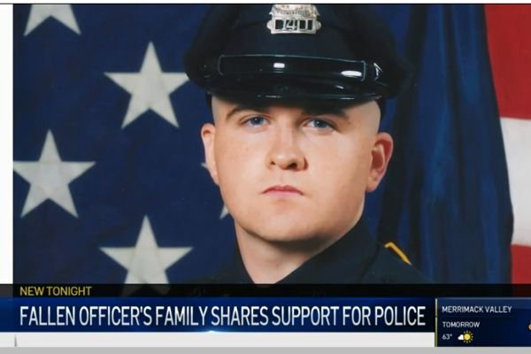 The family of Officer Sean Collier the MIT Police Department—who was killed in the aftermath of the Boston Marathon bombings—is urging the public to support law enforcement. - Screen grab of news report.