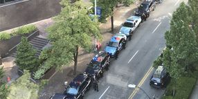 Seattle Officers Line Street as Chief Departs Agency