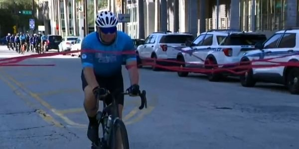 Officer Joe McCrink completed more than 1,000 miles of bike rides in the month of September in...