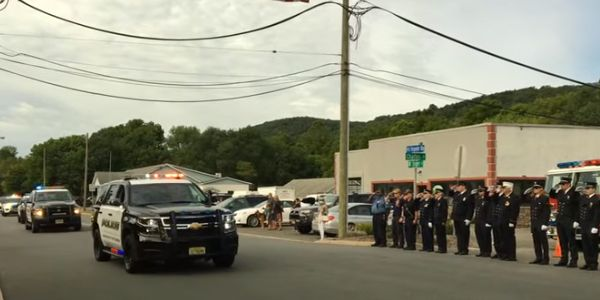 Video: Hundreds Gather for Fallen New Jersey K-9's Memorial Procession