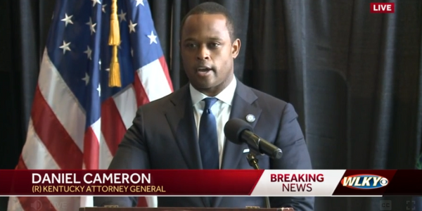Kentucky Attorney General Daniel Cameron give a statement on the findings of the grand jury....