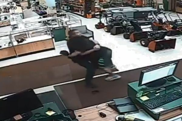 An officer with the Menasha Police Department was attacked while investigating an ax incident at a business after responding to a call of a man armed with axe acting erratically at a local business.  - Image courtesy ofMenasha Police Department / Facebook.