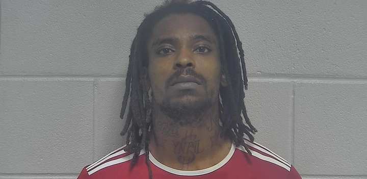 Cortez Lamont Edwards, 29, has been charged federally with being a felon in possession of a firearm. (Photo: Oldham County Detention Center) -