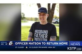 Minnesota Citizens Join Officers in Welcoming Home Wounded Officer