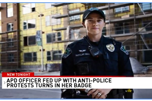 Kat Ratcliff knew she wanted to be a police officer from a very early age, but following the protests and anti-police sentiment in the wake of the killing of George Floyd, she determined that the best course of action for her and her family was to put that lifelong desire to be in the ranks of law enforcement to the side. - Screen grab of news report.