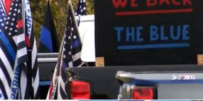 """""""Back the Blue"""" Rally Held in Upstate New York"""
