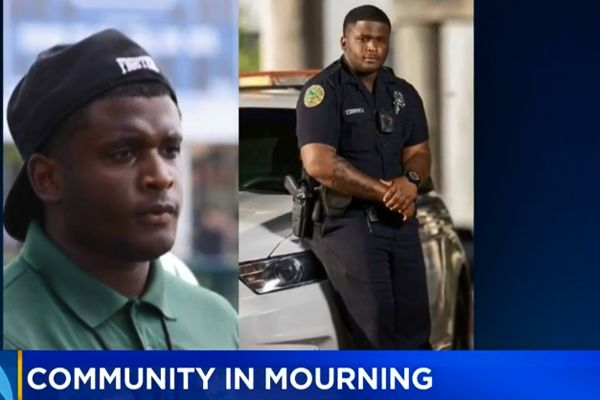 Community members from the city of Miami and surrounding areas came together on Wednesday to honor the life of Officer Aubrey Johnson Jr. of the Miami Police Department, who passed away unexpectedly earlier this month. - Screen grab of news report.