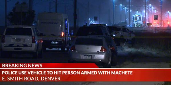 Officers with the Denver Police Department were forced to use at least one patrol vehicle to...