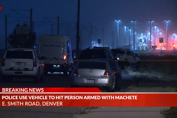 Denver Police Use Patrol Car to Stop Machete-Wielding Assailant