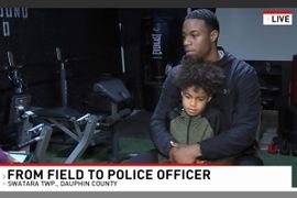 Standout Pennsylvania Football Player Trades Jersey for Police Uniform