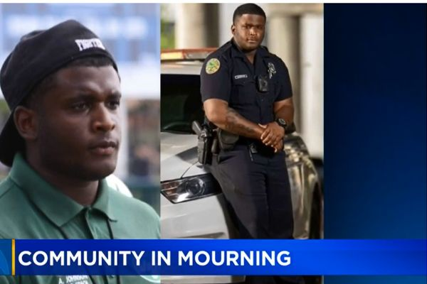 The Chief of Police for the Miami Police Department posted on social media a note of thanks for the outpouring of support from community members who mourn the sudden death of Officer Aubrey Johnson earlier this week. - Image courtesy of Delrish Moss / Twitter.