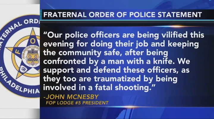 The Fraternal Order of Police issued a statement on the shooting. (Photo: ABC screen shot) -