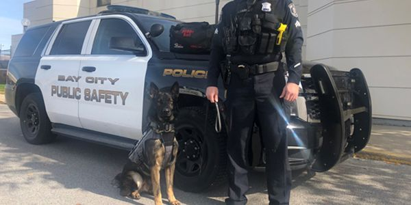 Officers with the Bay City (MI) Police Department are happy to welcome a new partner—K-9 Loki—to...
