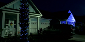 Myrtle Beach Neighborhood Lights Up Blue to Honor Slain Officer