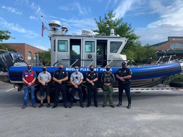 Officers with the Mount Pleasant (SC) Police Department have been training hard for several months in anticipation of adding a new asset to its capabilities in service of the community—a patrol boat staffed by officers who will work the local waterways to keep people safe. - Image courtesy of Mount Pleasant PD / Facebook.