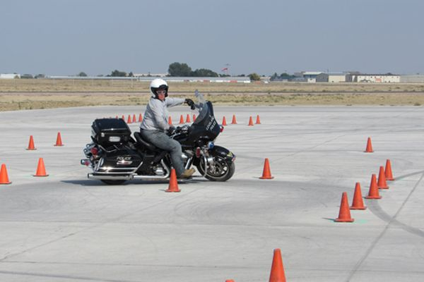 Officer Kelly Amling recently became the first female Loveland (CO) Police Departmentofficer to become a motorcycle officer upon completion of her training. - Image courtesy ofLoveland (CO) Police Department / Facebook.