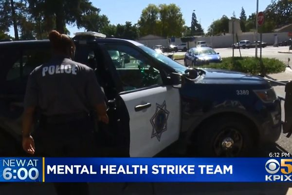 A new effort is underway in San Jose (CA) to help police officers better respond to individuals in mental health crisis.   - Screen grab of news report.