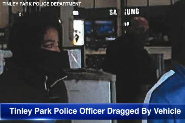 An officer with the Tinley Park (IL) Police Department was injured when attempting to apprehend a burglary suspect on Saturday, the agency confirmed to media outlets on Thursday afternoon. - Screen grab of news report.