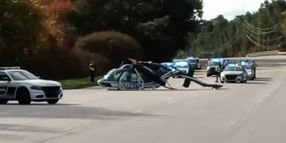 NC Highway Patrol Copter Crashes in Raleigh, No Injuries Reported
