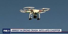 Man Arrested Over Drone Striking LAPD Helicopter