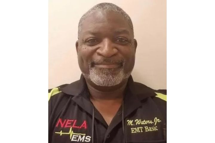 Marshall Waters, a part-time police officer,also worked for Northeast Louisiana Ambulance service full-time as an EMT. (Photo: NELA) -