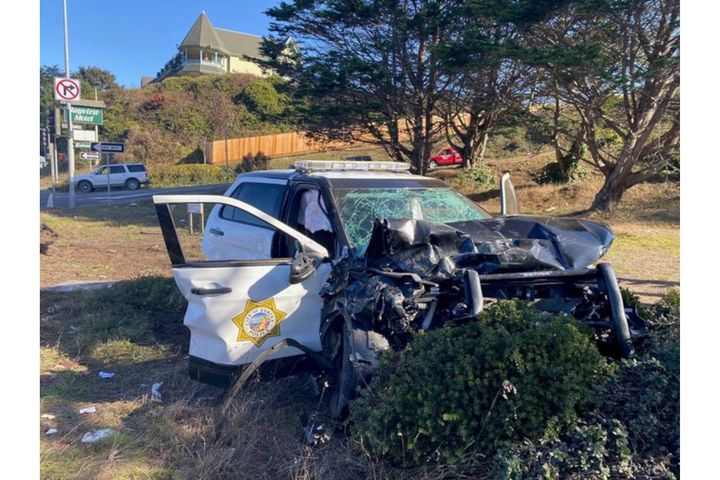 Officer Camaron Hooks of the Eureka (CA) Police Department was injured in a pursuit crash Wednesday. (Photo: Eureka PD) -