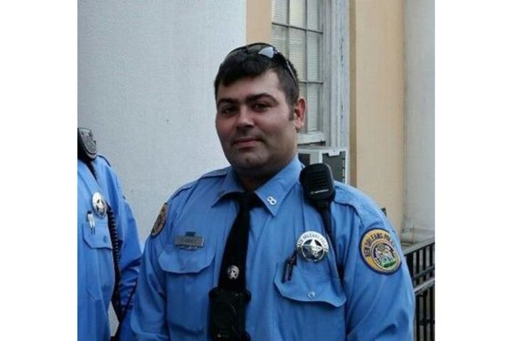 Officer Trevor Abney of the New Orleans Police Department was shot Friday in the French Quarter. He was ambushed in broad daylight and shot in the face. (Photo: NOPD) -