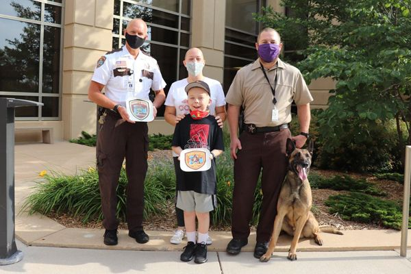 A nine-year-old boy suffering from a debilitating disease who was named an honorary sheriff's deputy by the Olmstead County Sheriff's Office earlier this year has returned to the hospital for treatment. - Image courtesty ofOlmstead County Sheriff Kevin Torgerson / Facebook.