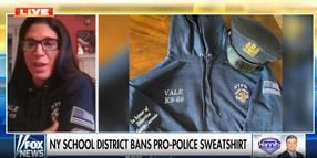"""Daughter of Slain Officer Fights School District Over Banning of """"Thin Blue Line"""" Symbol"""