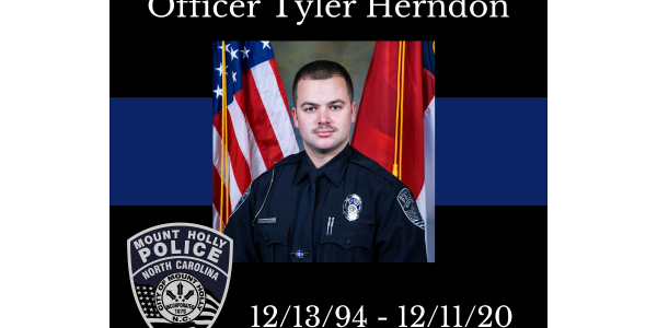 Mt. Holly Police Officer Tyler Herndon was shot 和 killed early Friday. (Photo: Mt. Holly...