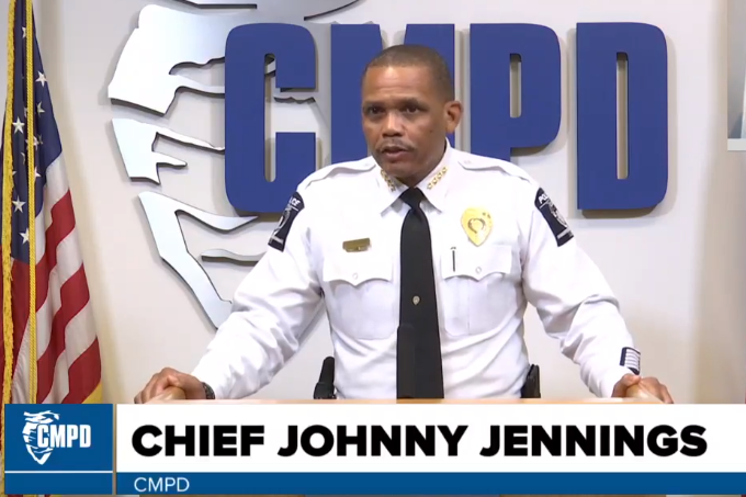 Charlotte-Mecklenburg Police Chief Johnny Jennings has tested positive for COVID-19. -