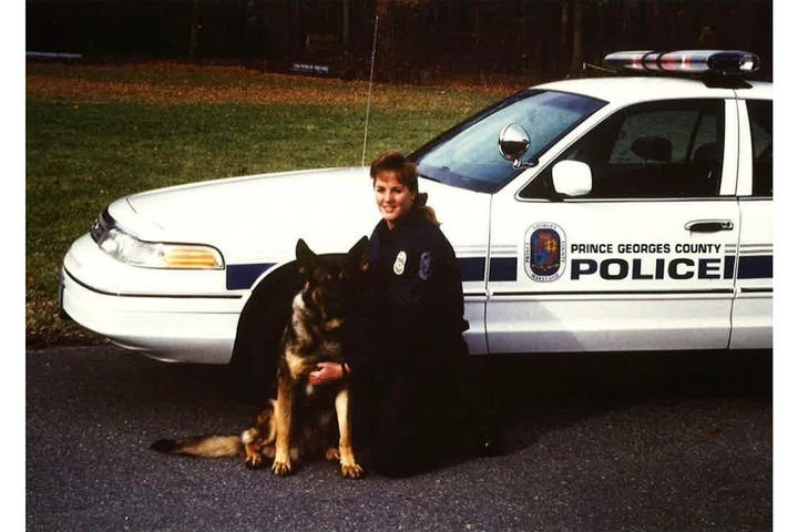 K-9 handler Stephanie Mohr served 10 years in prison after being convicted of violating a man's civil rights. She was pardoned this week by President Trump. (Photo: Twitter) -