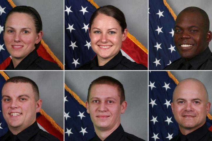 Left to right, top to bottom: Officer Amanda Topping, Officer Brenna Hosey, Officer James Wells, Officer Michael Sipos, Officer James Luellen, Sgt. Timothy Miller (Photo: Metro Nashville PD) -