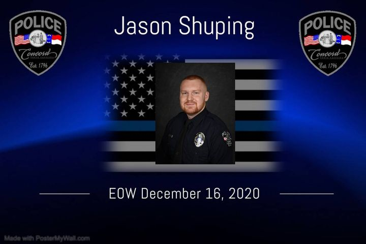 Concord, NC, police officer Jason Shuping was shot and killed Wednesday night in a gunfight with a carjacking suspect. (Photo: Concord PD) -