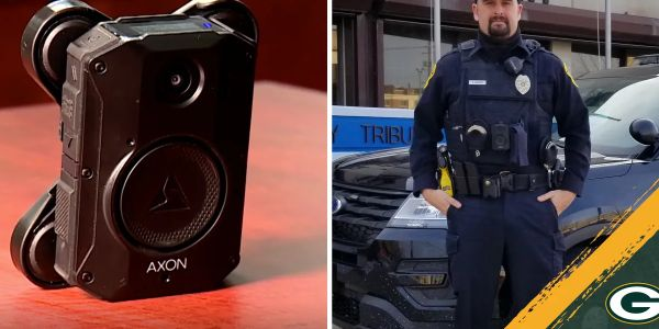 绿湾, WI, officers are now equipped with Axon body cameras, with the assistance of the...