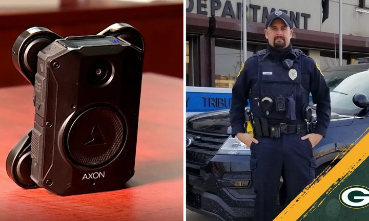 Green Bay, WI, officers are now equipped with Axon body cameras, with the assistance of the NFL's Packers. (Photo: Green Bay Packers) -
