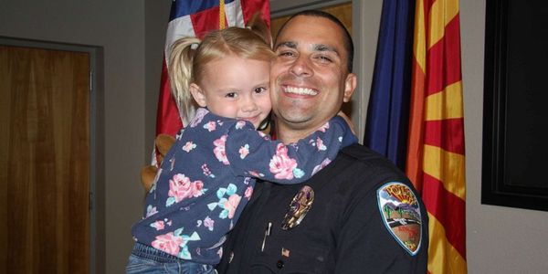 Lt. Brian Zach with his daughter Kaila. (Photo: Brian Zach)