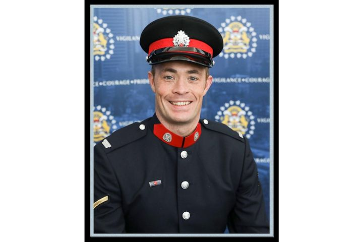 Sgt. Andrew Harnett of the Calgary Police Service was killed Thursday when he was struck by a fleeing vehicle at a traffic stop. (Photo: Calgary Police) -