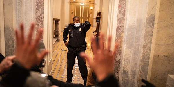 Capitol Police Officer Eugene Goodman delayed the mob and led them away from the Senate...